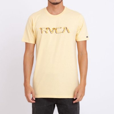 Camiseta RVCA Big Glitch Amarela
