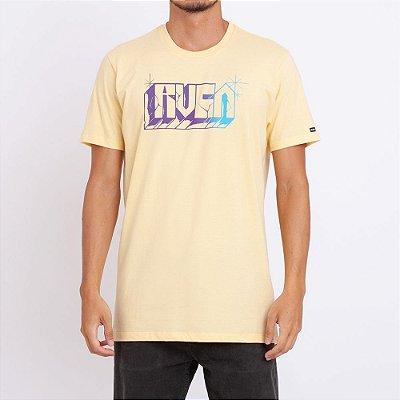 Camiseta RVCA Written Amarela