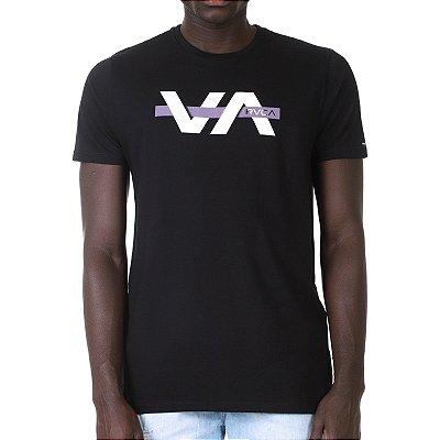 Camiseta RVCA Random Box Preta