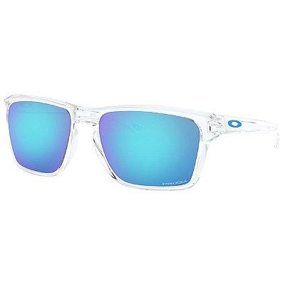 Óculos de Sol Oakley Sylas Polished Clear W/ Prizm Sapphire Iridium