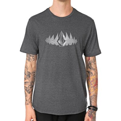 Camiseta Volcom Silk Phase Too Preto Mescla