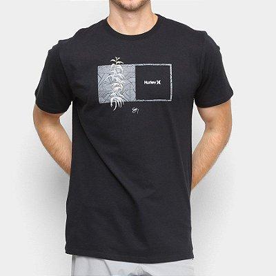 Camiseta Hurley Silk Sig Zane Kalaukoa Preta