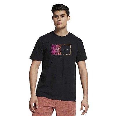 Camiseta Hurley Silk Sig Zane Moorea Preta