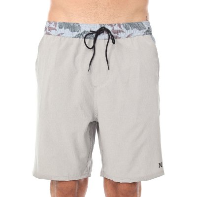 Shorts Hurley Volley Electric Cinza Claro