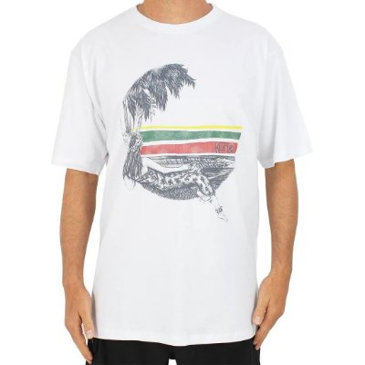 Camiseta Hurley Silk Lost In Bali Branca