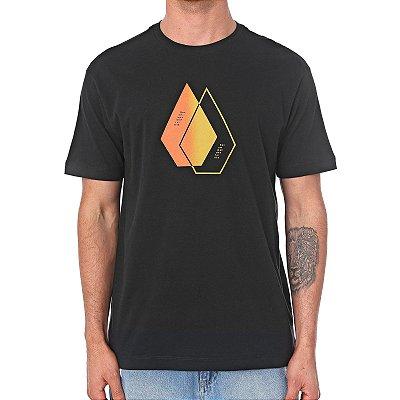 Camiseta Volcom Silk This Close Preta