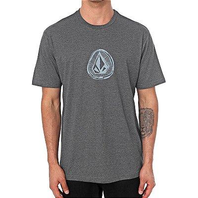 Camiseta Volcom Silk Sub Stone Preto Mescla