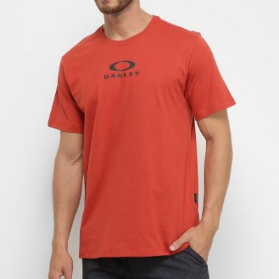 Camiseta Oakley Bark New Vermelha