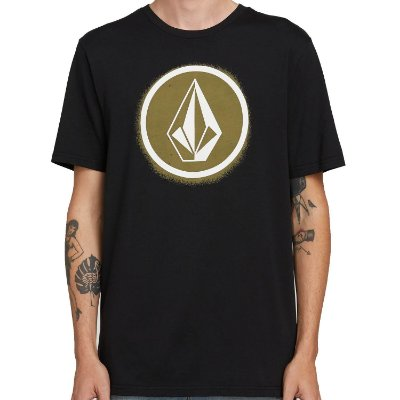 Camiseta Volcom Silk Spray Stone Preta