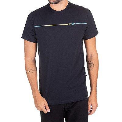 Camiseta Oakley Dyed Mark Iridium Preta