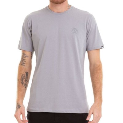 Camiseta Quiksilver Patch This Up Cinza