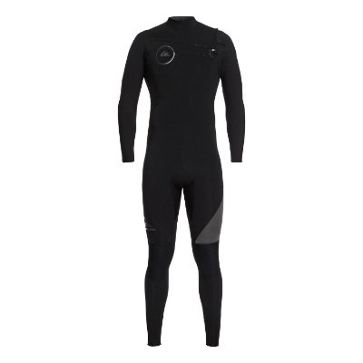 Wetsuit Long John Quiksilver 3/2mm Syncro Series c/ Zíper no Peito Preto