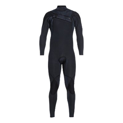 Wetsuit Long John Quiksilver 3/2mm Highline c/ Zíper no Peito Preto