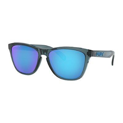 Óculos de Sol Oakley Frogskins Crystal Black W/ Prizm Sapphire Polarized