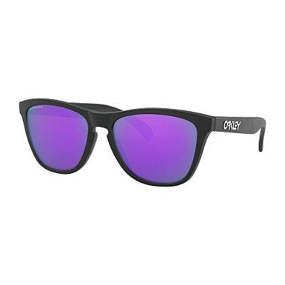 Óculos de Sol Oakley Frogskins Matte Black W/ Prizm Violet