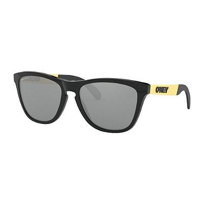 Óculos de Sol Oakley Frogskins Mix Polished Black Gold W/ Prizm Black Iridium