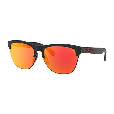 Óculos de Sol Oakley Frogskins Lite Matte Black W/ Prizm Ruby