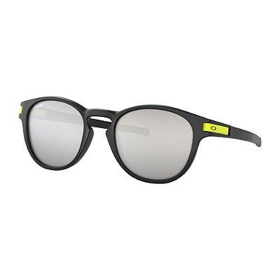 Óculos de Sol Oakley Latch Valentino Rossi Signature Series Matte Black W/ Chrome Iridium