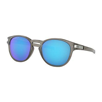 Óculos de Sol Oakley Latch Matte Grey Ink W/ Prizm Sapphire Polarized