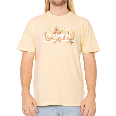 Camiseta Hurley Silk Brotanical Amarela