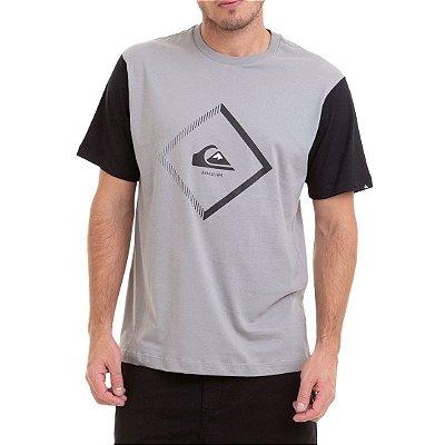 Camiseta Quiksilver Diamond Ton Cinza