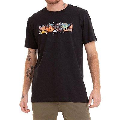 Camiseta Quiksilver Box Heat Preto
