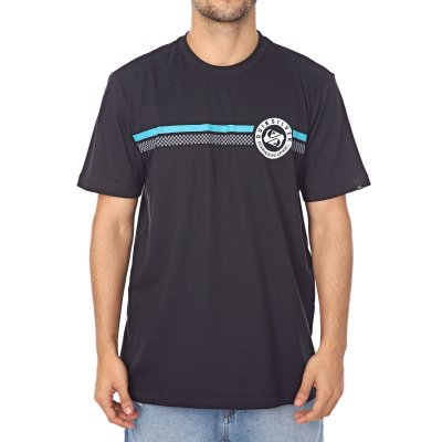 Camiseta Quiksilver Finish Lin Preto