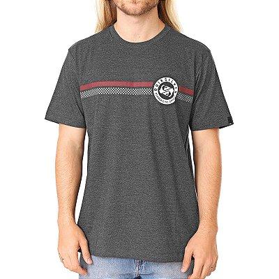 Camiseta Quiksilver Finish Lin Cinza Escuro