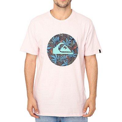 Camiseta Quiksilver Floral Rosa