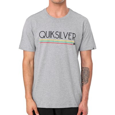 Camiseta Quiksilver Jamaica Log Cinza