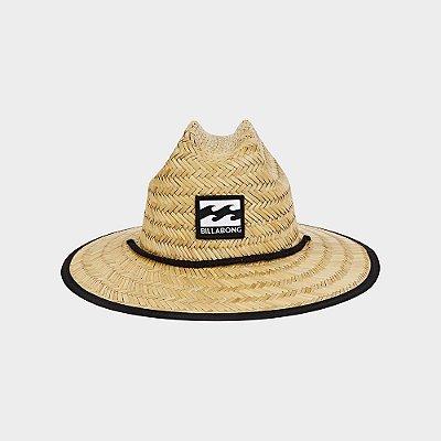 Chapéu de Palha Billabong Tides Pipe Print Laranja