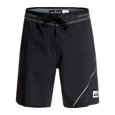 "Bermuda Quiksilver Boardshort Highline New Wave Pro 19"" Preto"
