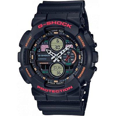 Relógio G-Shock GA-140-1A4DR Preto/Vermelho