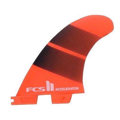 Quilha FCS II Accelerator Média Neo Glass Laranja