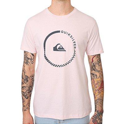 Camiseta Quiksilver Logo Rosa