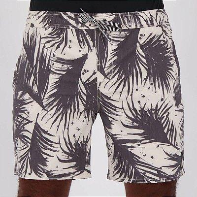 Shorts Volcom Las Palmas Branco/Preto