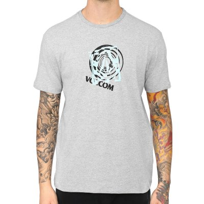 Camiseta Volcom Silk Over Cinza Mescla