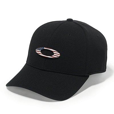 Boné Oakley Tincan Cap Preto/American Flag