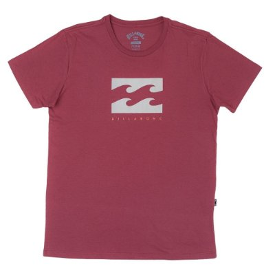 Camiseta Billabong Originals Secret Rosa Escuro