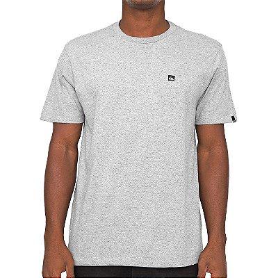 Camiseta Quiksilver Transfer Cinza Claro Mescla