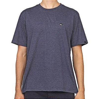Camiseta Quiksilver Transfer Azul Marinho Mescla