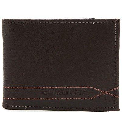 Carteira Quiksilver Stitchy Wallet V Marrom