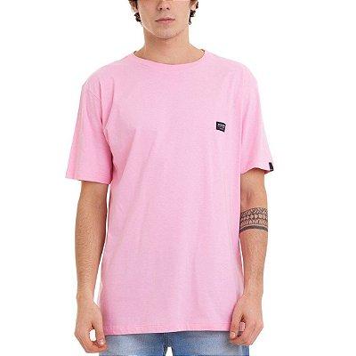 Camiseta Quiksilver Basic Rosa