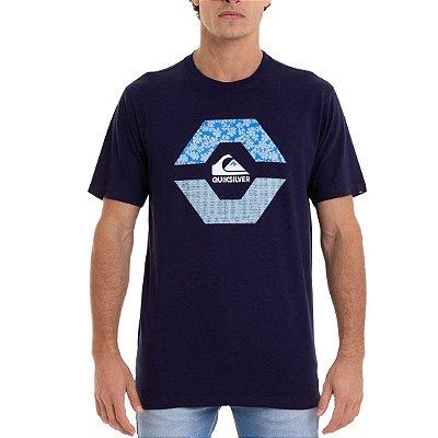 Camiseta Quiksilver New Look Azul Marinho