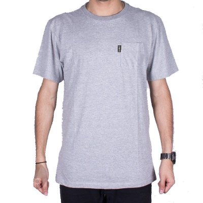 Camiseta Element Simple Pocket Cinza