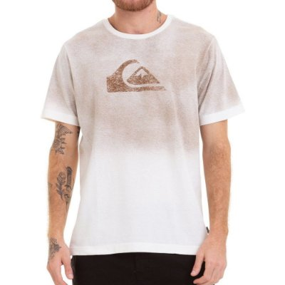 Camiseta Quiksilver Especial Degra Logo Bege
