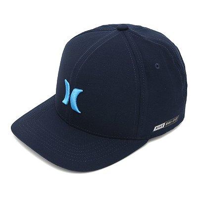 Boné Hurley Aba Curva Icon Dri Fit Azul Marinho