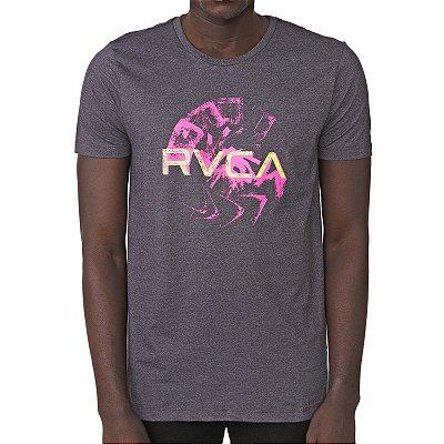 Camiseta RVCA Smudge Cinza Escuro Mescla