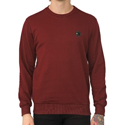 Moletom Quiksilver Careca Patch Vinho