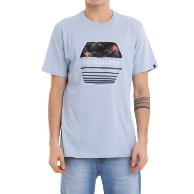 Camiseta Quiksilver Drift Away Azul Claro